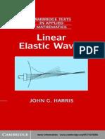 John G. Harris Linear Elastic Waves 2001