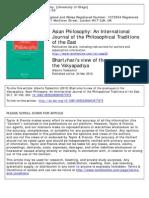 Asian Philosophy Volume 20 Issue 1 2010 [Doi 10.1080%2F09552360903577675] a. Todeschini -- Bhartṛhari's View of Thepramāṇas in the Vākyapadīya
