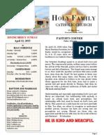 church bulletin 4-12-15