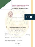 Transformador monofasico - previo