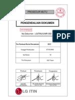 SOP Pengendalian Dokumen