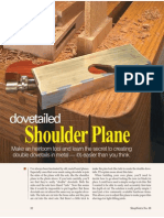 Shopnotes 88 Dovetailed Shoulder Plane