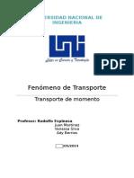 Trabajo  fenomeno de Transporte