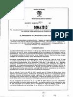 Decreto 933 de 2013 MINTRAD