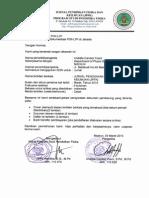 Surat Permohonan JPFK