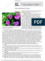 Cynthia Brians Gardening Guide for April