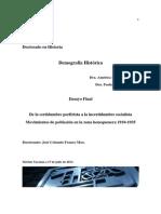 De La Certidumbre Porfirista a La Incertidumbre Post Revolucionaria.