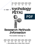 research methods information booklet