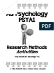 research methods activity booklet