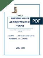 Accidentes en El Hoga Cesion Educativa