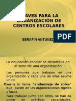 Claves Organizacion Centros educativos Serafin
