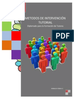 4.3.1. MÉTODOS DE INTERVENCION TUTORIAL