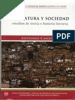 Candido Antonio La Literatura y La Vida Sociedad-libre