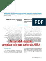 Medida de La Concentracion Urinaria Densidad vs Osmolalidad