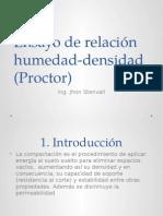 Ensayo de Relación Humedad-Densidad PROCTOR