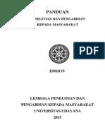Panduan Penelitian Dan Pengabdian Kepada Masyarakat Edisi IV Tahun 2015