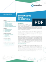 Vaultize Continuous Data Protection Data Sheet