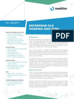 Vaultize Enterprise File Sharing and Sync (EFSS) Data Sheet