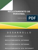 4 Reclutamiento de Personal