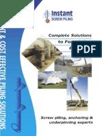 Instant Screw Piles - Preliminary Piles - Copy