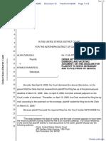 Carlisle v. Secretary Of Defense - Document No. 12