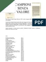 Campioni Senza Valore Alessandro Donati