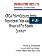 CFOA Unwanted Fire Signals Policy Guidance Summary