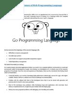 Golang – the Future of Web Programming Language