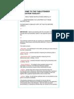 Evaluation Toolkit - TableTender
