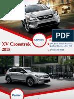 Subaru XV Crosstrek 2015 à Québec - Un véhicule avec traction intégrale