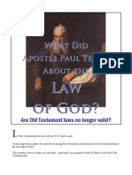 What Did Apostle Paul Teach About the Law?