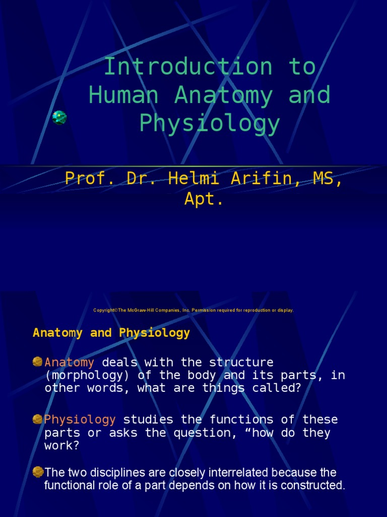 INTRODUCTION OF HUMAN PHYSIOLOGY 2010.ppt | Homeostasis | Anatomical ...