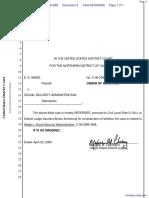 Wade v. Social Security Administration - Document No. 4