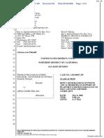 """The Apple iPod iTunes Anti-Trust Litigation"" - Document No. 65"