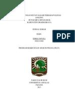 Perlindungan Hutan Nagari Terhadap Illegal Logging