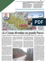 """""""Le Cesane diventino un grande Parco"""" - Il Resto del Carlino del 5 aprile 2015"""