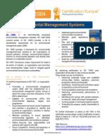 ISO 140001 Brochure