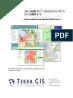 Web GIS Manual October 2014
