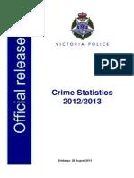 Crime Statistics 2012-13