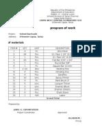 Program of Work