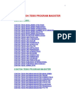 Contoh Tesis Program Magister