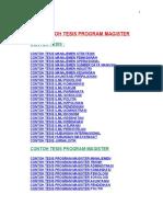 Contoh Tesis Program Magister