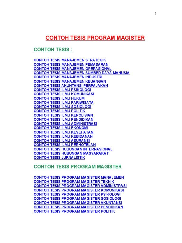 Contoh Proposal Tesis Phd Ukm Proposal Service