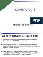 4 La Fenomenologia