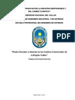 PRE TESIS  Redes Sociales e Internet en los Centros Comerciales de la Región Callao