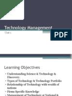 Unit1- Technology Management