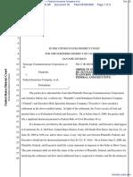 Netscape Communications Corporation et al v. Federal Insurance Company et al - Document No. 33