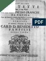 Mottetti a due e tre voci op 3 / Giovanni Pietro Franchi