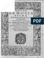 Armonia Sacra / Carlo Milanuzzi