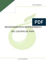 Requerimientos nutricionales del cultivo de papa